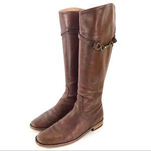 Coach Georgie Brown Leather Boots Sz 8B